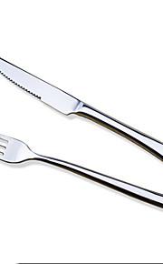 bestekset RVS tafelgerei steak mes en vork westen servies steak mes vorken