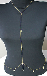 Kropskæde Guldbelagt Frynsetip(s) / Bikini Gylden Smykker,1pc