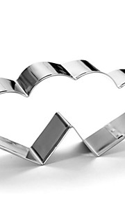 Stainless Steel Double Heart Cookie Cutter Sweet Love Pattern Cake Chocolate Pastry