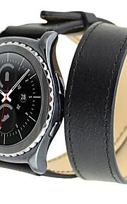 à double montre bague bracelet cuir montre bracelet pour samsung s2 engrenage