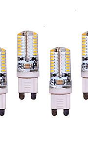 7W G9 LED Bi-pin Lights T 64 SMD 3014 550 lm Warm White / Cool White Decorative AC 220-240 V 4 pcs