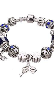 Charm-armbånd / Bangles / Strand Armbånd / Silver Bracelets 1pc,Pudebetræk / Sølv / Hvid / Rød / Blå / Lilla ArmbåndHoldbar / Moderigtig