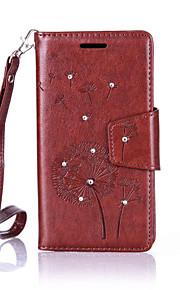 Full Body portfel / Kieszonka na kartę / Odporne na wstrząsy / Pyłoodporna / Kryształ górski / z podstawką Mniszek lekarski Skóra PU