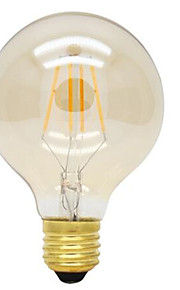 4W E26/E27 LED-glødepærer G125 4 Høyeffekts-LED 360lm lm Varm hvit Dekorativ AC 220-240 V 1 stk.