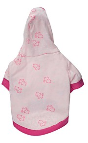 Gatos / Perros Saco y Capucha / Camiseta Rosado Primavera/Otoño Animal Moda, Dog Clothes / Dog Clothing-Other
