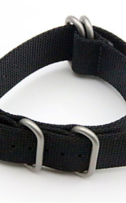 Noir / Vert Nylon durable Bracelet Sport Pour Garmin Regarder 26mm