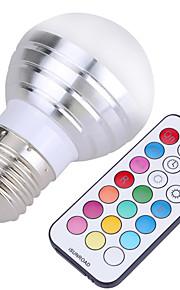 5W E26/E27 LED-globepærer A50 4 SMD 300-450 lm Kjølig hvit / RGB Dimbar / Fjernstyrt / Dekorativ AC 85-265 / AC 220-240 / AC 110-130 V1