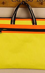 A4 Thick Waterproof Canvas Bilayer Zipper Document Bag