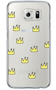 Crown Pattern Soft Ultra-thin TPU Back Cover For Samsung GalaxyS7 edge/S7/S6 edge/S6 edge plus/S6/S5/S4