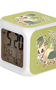Cartoon Pet Colorful Luminous Alarm Clock-7#