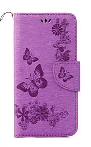На все тело Визитница / с подставкой / Узор Однотонные Искусственная кожа Мягкий Card Holder Для крышки случая Huawei Other