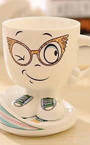 expressão dos desenhos animados caneca de cerâmica