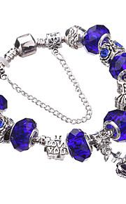 Charm-armbånd / Bangles / Strand Armbånd / Silver Bracelets 1pc,Lysegrøn / Sølv / Gul / Rød / Blå / Brun / Grøn / Lilla / Pink Armbånd