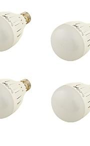 3W E26/E27 LED 글로브 전구 A60(A19) 6 SMD 5730 260 lm 따뜻한 화이트 장식 AC 85-265 / AC 220-240 / AC 100-240 / AC 110-130 V 4개