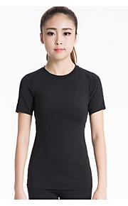 Hardlopen Sweatshirt / T-shirt Dames Korte Mouw Ademend / Sneldrogend / Compressie / Zweetafvoerend / Stretch Yoga / Fitness / Hardlopen