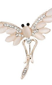 mode forgyldt alloy opal dragonfly brocher for kvinder