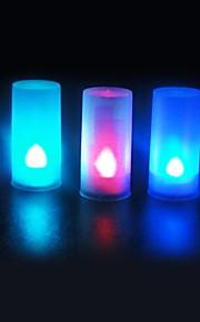 5 kpl ääni anturi johti kynttilän valon väri vaihdettavissa yövalo