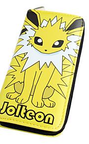 포켓 작은 괴물 jolteon 긴 19cm PU 가죽 지갑에서 영감을