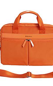 14inch handheld zakelijke laptop tas / sleeve kaki / zwart / oranje / roze