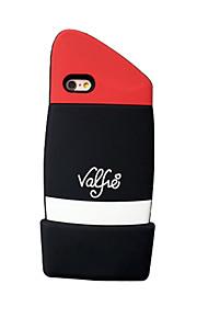 espalda Other Dibujo 3D Silicona Suave 3D Cubierta del caso para Apple iPhone 6s Plus/6 Plus / iPhone 6s/6 / iPhone SE/5s/5