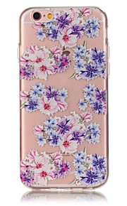 Rückseite Ultra dünn / Muster / Waffeloptik Blume TPU Weich Fall-Abdeckung für Apple iPhone 6s Plus/6 Plus / iPhone 6s/6 / iPhone SE/5s/5