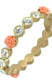 Bangles / Tennis Armbånd 1pc,Moderigtig / Personlighed Flower Shape Gylden Legering Smykker Gaver