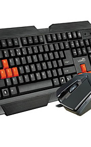 High Quality  Computer Keyboard and Mousepad Set Two Pieces a Set Waterproof