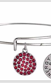damemode dejlige brev mønster sølv kobber armbånd