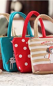 Cartoon Can Ai Pula Girl Hand Carry Zero Purse Canvas Bag Personality Mobile Phone Headset
