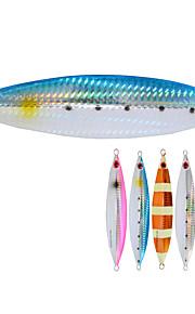 2pcs/lot Afishlure Slow roll Metal Plate Lead Jig 40g Fishing Lure Lead Fish Deep Sea Fishing Boat Fishing