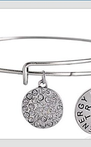 damemode dejlige brev mønster sølv armbånd