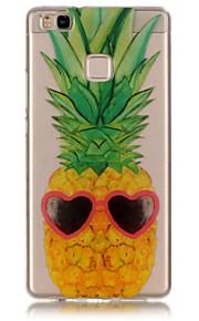 Achterkant Oranjegeel Fruit TPU Zacht Geval voor Huawei Huawei P9 / Huawei P9 Lite / Huawei P8 Lite