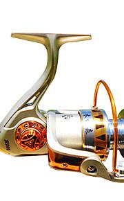 Spinning Reels 5.2/1 12 Ball Bearings Exchangable Bait Casting-JE2000,JE3000,JE4000,JE5000 Mulinshen