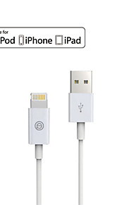 opso eple mfi godkjent USB-kabel 3.28ft (1m) for iphone 7 6s 6 pluss se 5s 5c 5, ipad data ladekabel
