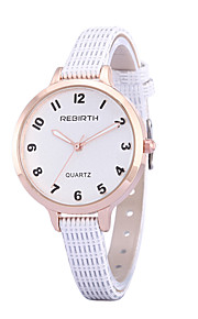 Women's Simple Fashion PU Leather Strap Quartz Wrist Watch