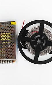 zdm® 5м 100w 600 * 7020 SMD LED выделить холодный белый гибкий свет водить и AC100-240V к DC12V 8.5A трансформатор