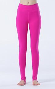 Yoga Pants Sykling Tights Pustende / Lettvektsmateriale Naturlig Høy Elastisitet Drakter Rød Dame Sport Yoga & Danse Sko