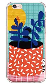 Funda Trasera Ultra-Fino / Traslúcido Flor TPU Suave Cubierta del caso para Apple iPhone 6s Plus/6 Plus / iPhone 6s/6 / iPhone SE/5s/5