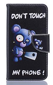 풀 바디 카드 홀더 / 지갑 / 충격방지 / 먼지방지 / 스탠드 만화 인조 가죽 소프트 Wallet/With Stand 케이스 커버를 들어 Nokia Nokia Lumia 650 / Nokia Lumia 550