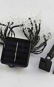 1pc водить солнечный дом рождественские украшения на открытом воздухе 5м 20dip струнные светильники