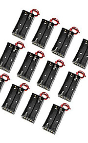 12PCS 5 Section 2 AA-Size Battery Box Without Lid - Two AA Battery Box Without A Lid In Series With A Line Level Row 3V