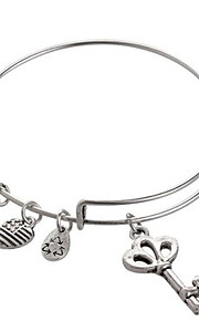damemode dejlig flad mønster sølv armbånd