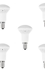 7W E14 Lâmpada Redonda LED R50 9 SMD 5730 650LM lm Branco Quente / Branco Frio Decorativa AC 85-265 V 5 pçs