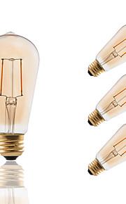 2 E26/E27 LED лампы накаливания ST19 2 COB 180 lm Янтарный Регулируемая / Декоративная AC 110-130 V 4 шт.