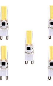5W G9 LED-lamper med G-sokkel T 1 COB 400-500 lm Varm hvit / Kjølig hvit Dimbar / Dekorativ AC 220-240 / AC 110-130 V 5 stk.