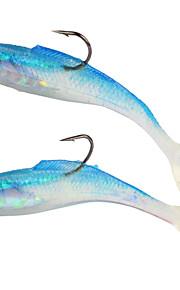 2pcs/lot AfishlureSoft Paddle Tail Lead Fish 14g/10.5cm Soft Worm Lead Bait Fishing Lure Bait Casting