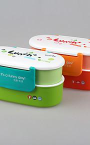 fiambrera de dos pisos de la marca yeeyoo con separadores para los niños material para adultos FDA
