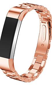 Zwart / roze / Goud / Zilver Roestvast staal Sportband Voor Fitbit Horloge 10mm