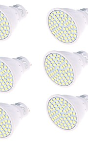 5 GU10 LED-spotpærer MR16 80 SMD 2835 450 lm Varm hvit / Kjølig hvit Dekorativ AC 220-240 V 6 stk.