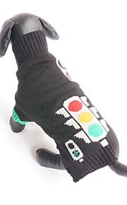 New Autumn and Winter Christmas Halloween Black Traffic Light Dog Sweater Dog Clothes for Pet Dogs
